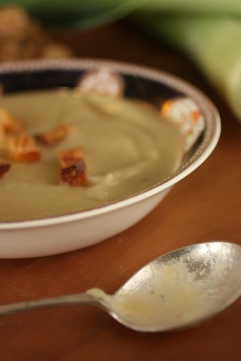 Leek and Jerusalem Artichoke Soup