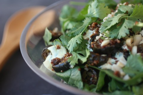 Spiced eggplant salad