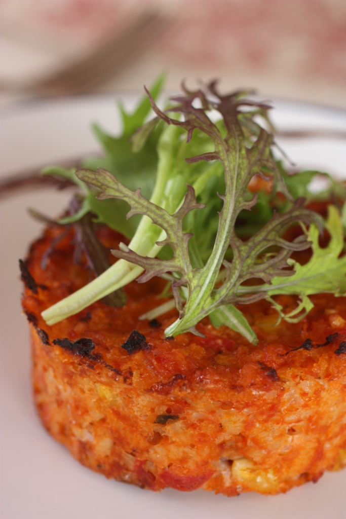 Tomato, Sweetcorn and Basil Risotto Cakes (GF) | Nourish Magazine